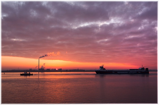 Sunset in Bremerhaven