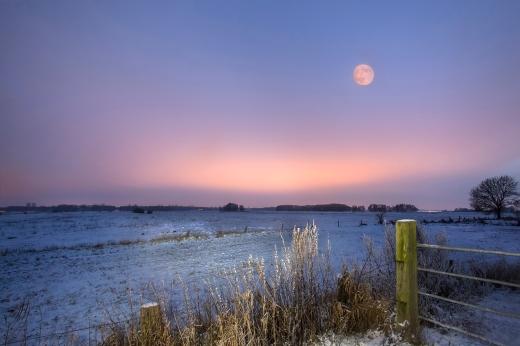 Winternacht im Teufelsmoor